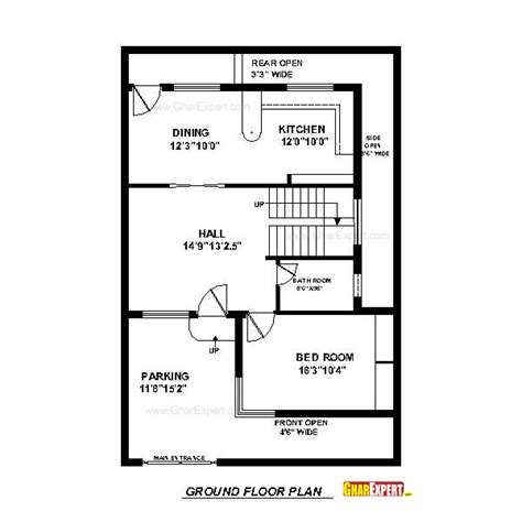 150 yard home design house plan for 30 feet by 45 feet plot plot size 150