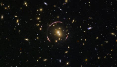 images of space hubble space telescope reveals an einstein ring
