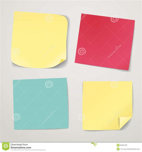 How To Make Stickers With Sticker Paper - blank color paper stickers stock vector image of empty