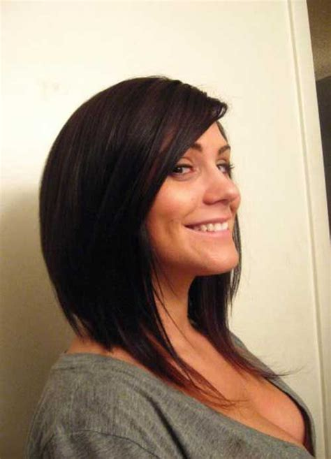 cut sholder lenght hair upside down long bobs inverted long bobs and bobs on pinterest