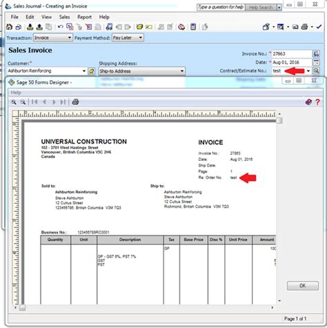 sage invoice design help order no tab in sales creating an invoice please help