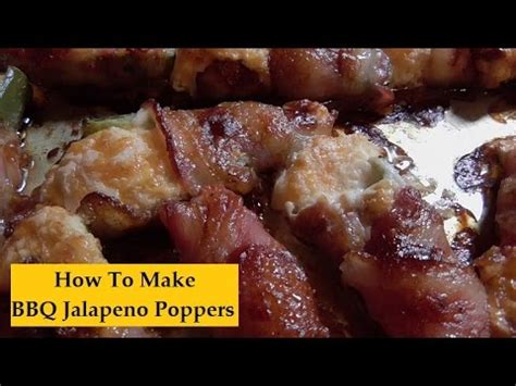 how to make bbq jalapeno poppers barbecue style youtube
