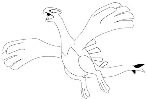 n lugia colouring pages