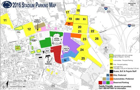 state parking map penn state football parking information 2016 happy valley