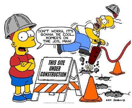 Under Construction with Bart and Homer Simpson, via web.mi