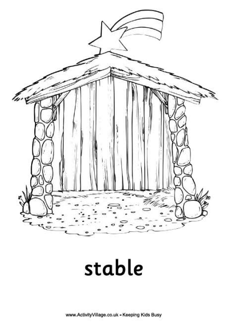 christmas stable to color myideasbedroom com