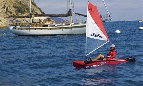 kayak boats sail five tips for getting into kayak sailing hobie cat