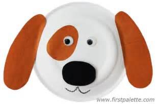 puppy craft paper plate animals craft crafts firstpalette