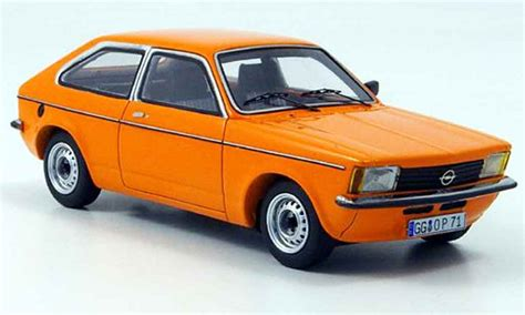 opel orange opel kadett c city orange 1978 neo diecast model car 1 43