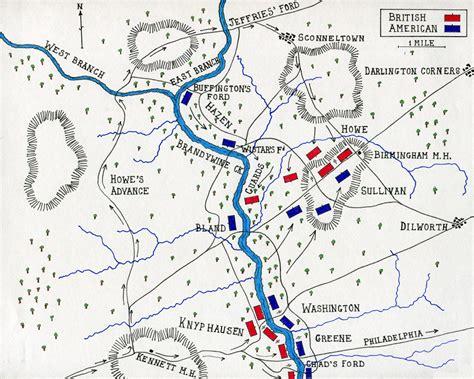 american battles map battle of brandywine creek