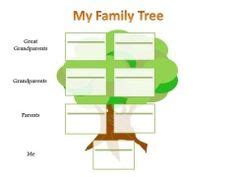 family blank tree template easy family chart with
