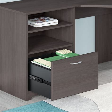 bush cabot corner desk bush cabot corner desk in gray wc31715k