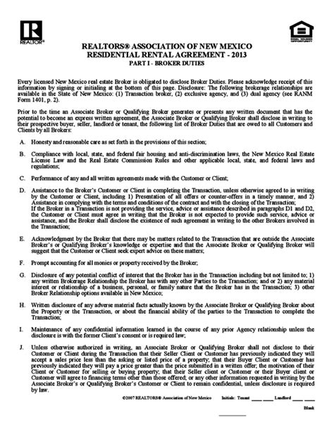 1 Year Rental Agreement New York State Lease Agreement Template