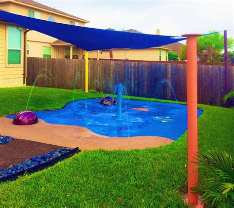 25 best ideas about splash pad on backyard