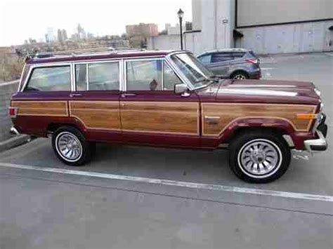 1982 Jeep Wagoneer Purchase Used 1982 Jeep Wagoneer Limited Early Model In