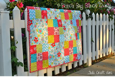Big Quilt Tutorial by 9 Patch Big Block Quilt Tutorial