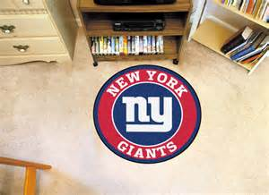 new york giants logo roundel mat 27 quot area rug
