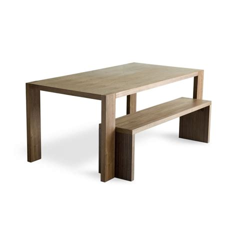 Gus modern plank dining table amp bench dining tables at bobby berk home
