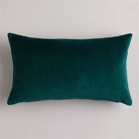 Green Velvet Throw Pillows by Bistro Green Velvet Lumbar Pillow World Market