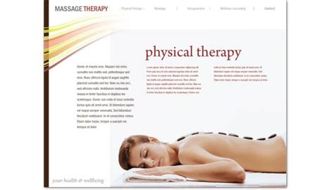 therapy flyer template website template for chiropractor physical therapy