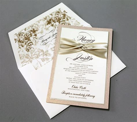 Wedding Invitation Styles by Best Collection Of Wedding Invitations With Ribbon