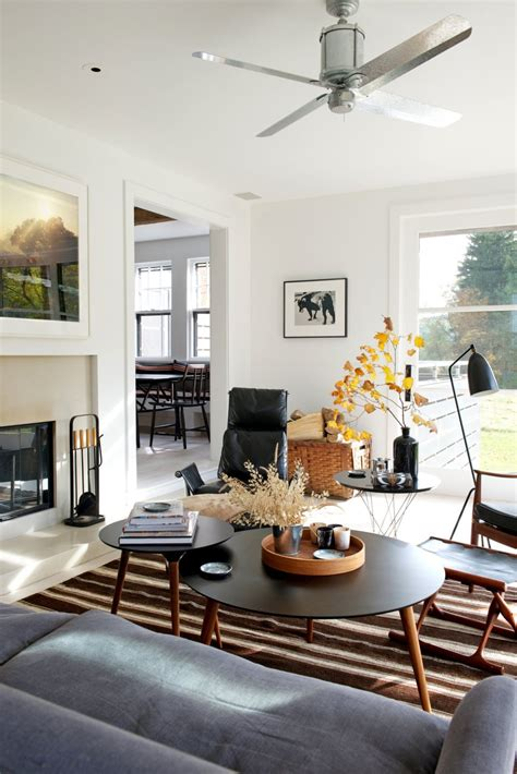 a mid century meets industrial meets country living room mid century modern
