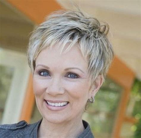 short hair cuts for women over 65 showing back and front short hairstyles for women over 50 2016