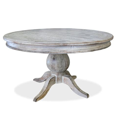 Distressed Pedestal Dining Table La Pedestal Dining Table