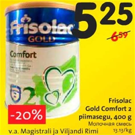 frisolac comfort 2 frisolac gold comfort 2 piimasegu 400 g allahindlus