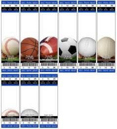 Sport Ticket Template doc 600253 sports ticket template custom baseball