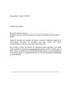 carta para empleo