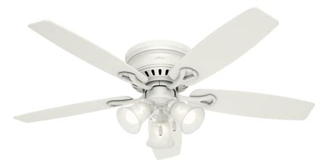 hunter oakhurst white ceiling fan 52 quot white ceiling fan oakhurst 52018 hunter fan