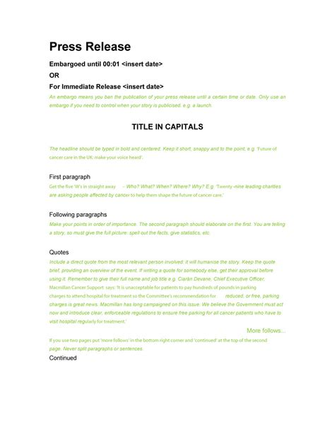 template of press release 47 free press release format templates exles sles