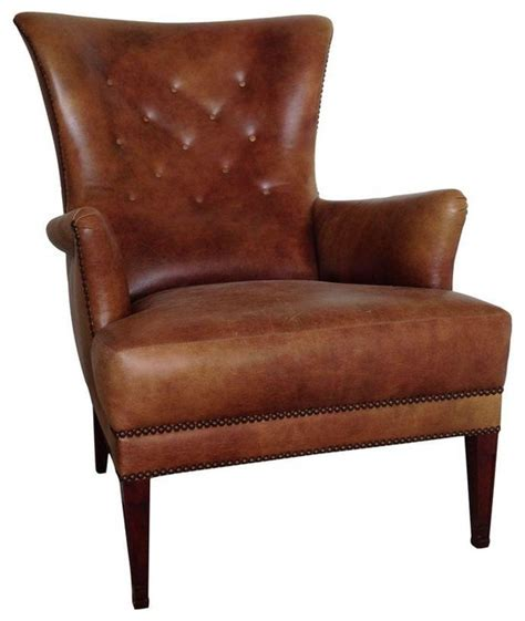 used tufted leather club chair rustic armchairs and