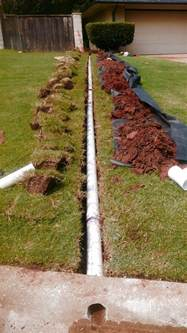 french drain gutters drains sprinklers oklahoma city edmond norman okc