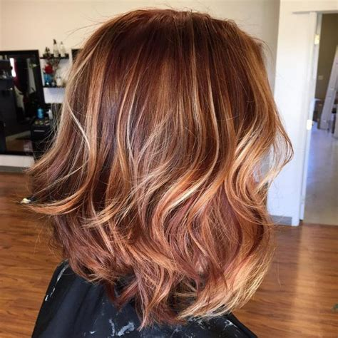 medium length hairstyles for straight hair rose gold layered bob image result for straight brown hair with highlights