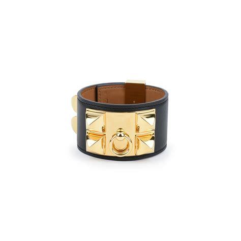 second hermes collier de chien bracelet black the fifth collection