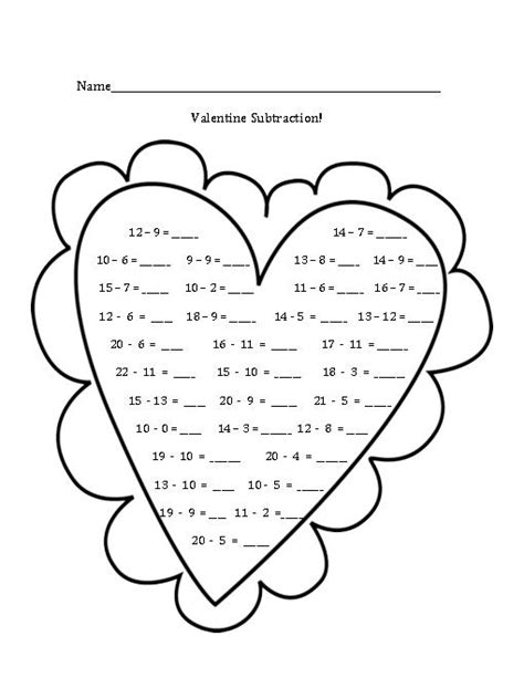 valentine math coloring page 16 best images of valentine s day math coloring worksheets