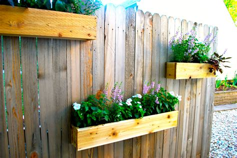 fence planter boxes yard update and diy cedar planter boxes the suburban