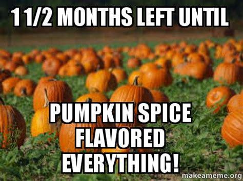 Pumpkin Spice Meme - 1 1 2 months left until pumpkin spice flavored everything