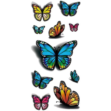 henna tattoo zeichnen 3d butterfly design temporary stickers