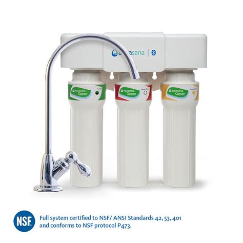 Aquasana Faucet Filter by Aquasana 3 Stage Max Flow Counter Water Filtration