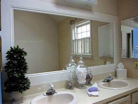 How To Frame A Bathroom Mirror Pinterest Framed Framing Bathroom Mirror With Molding