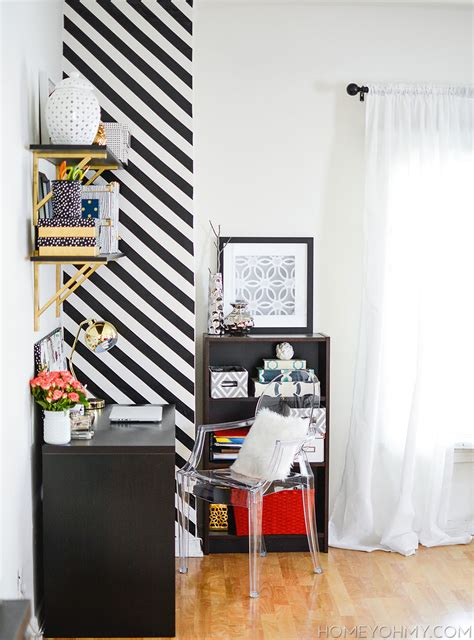 black and white striped wall how to create a striped accent wall without paint