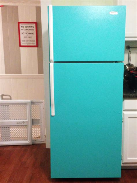 how to make your fridge look like a cabinet diy painted refrigerator or how to make your fridge