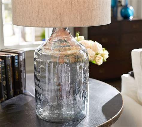 luster glass table l alana luster glass jug table l base indigo pottery barn