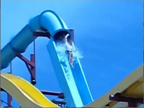 Tiny House Slide Out by Near Death Waterslide Accident Launch And Fall Youtube