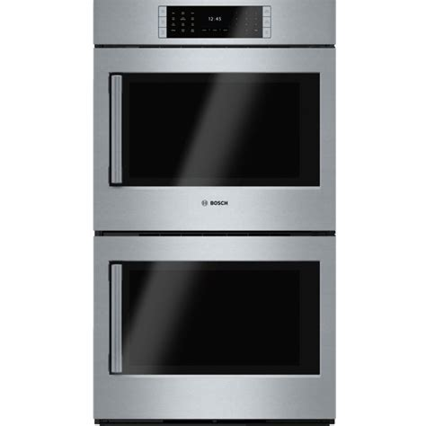 swing door oven bosch hblp651ruc benchmark series 30 quot double wall oven