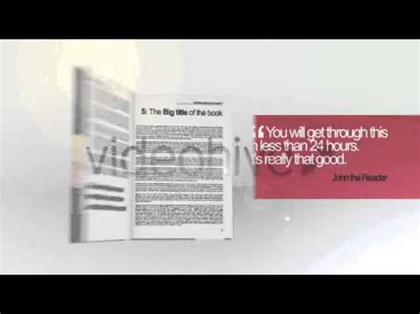 3d Flip Book Effect After Effects Template Doovi After Effects Page Turn Template Free