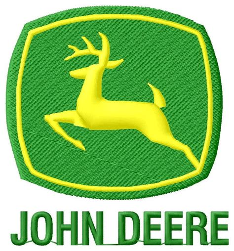 Motif Jd classic deere embroidery design 2 2 sizes